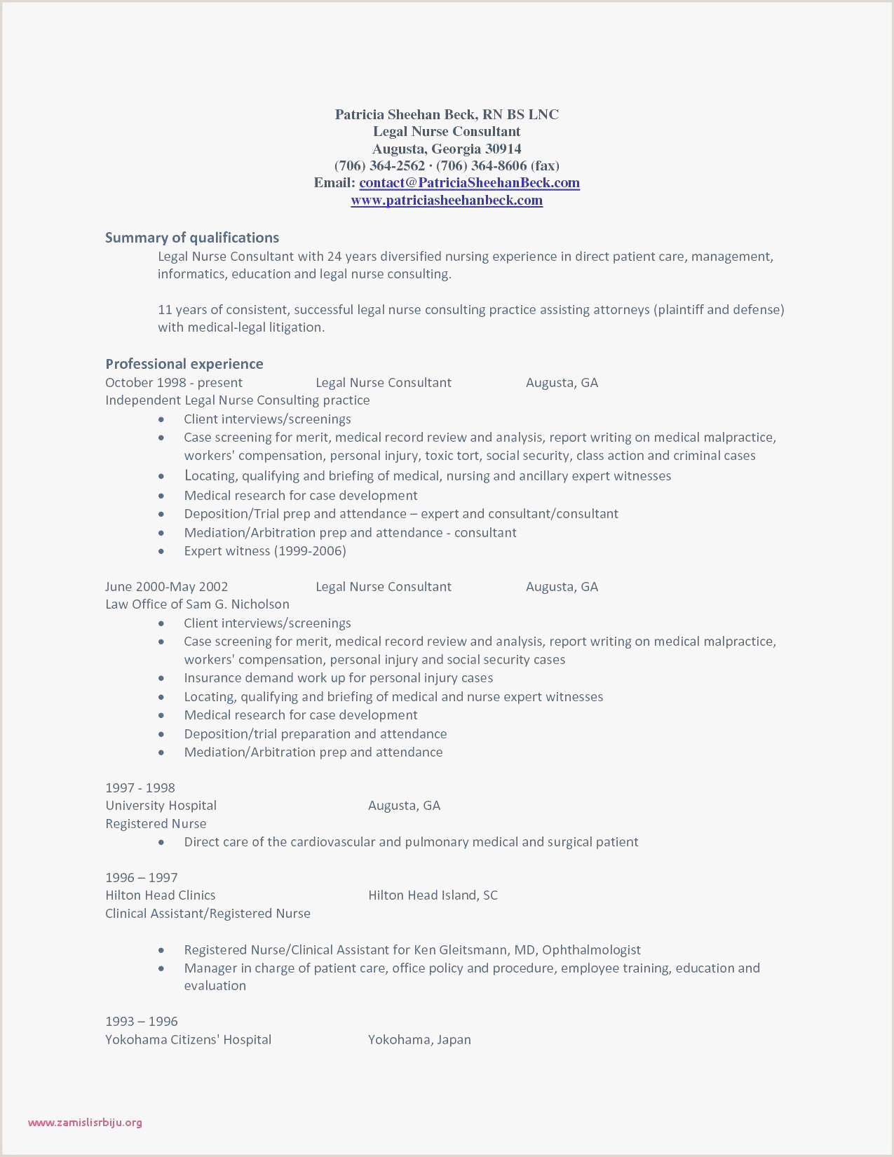 Curriculum Vitae for Nurse Rn Skills Resume Free Rn Resume Sample – Rn Resume Templates