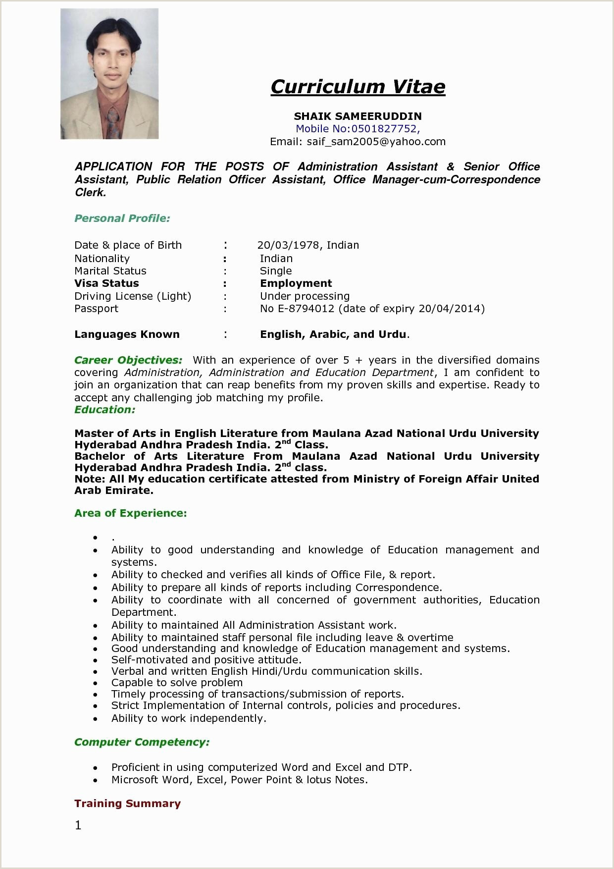 Curriculum Vitae for Nurses Abroad Modele Cv Petence Detail Resume Sample Doc Resume Model