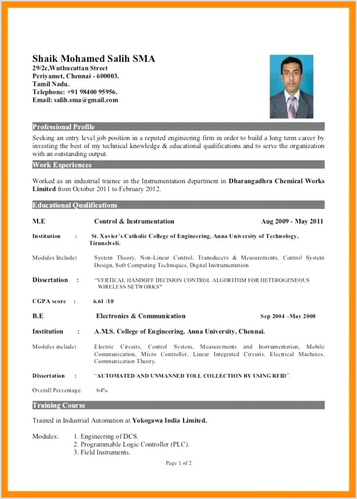 Curriculum Vitae Format Doc For Freshers Resume Sample – Growthnotes