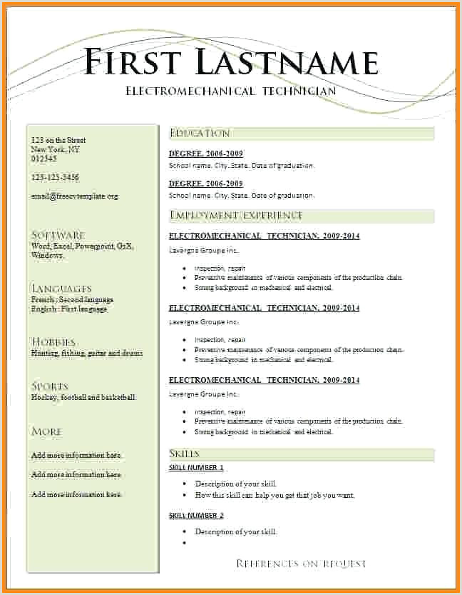 Curriculum Vitae format Download In Ms Word for Fresher Microsoft Resume format – Paknts