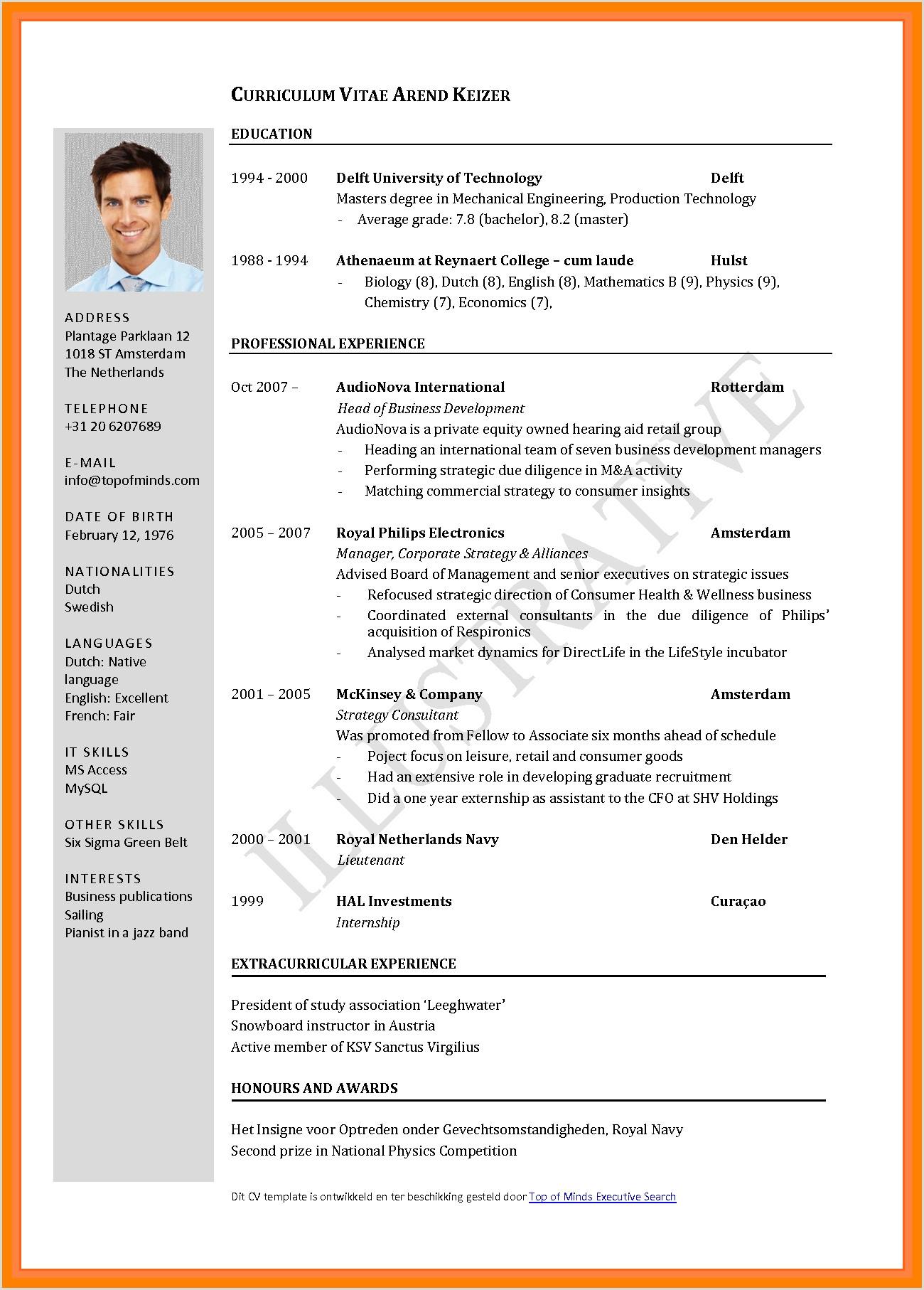 Curriculum Vitae format Pdf Curriculum Vitae format Pdf – Guatemalago