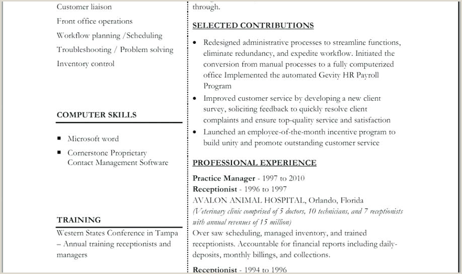 Basic Simple Curriculum Vitae Format For Students Resume