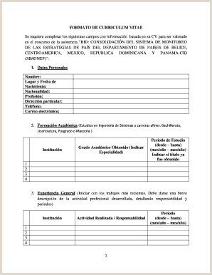 Curriculum Vitae formato Word Para Rellenar Gratis Curriculum Vitae formato Word Edit Line Fill Out