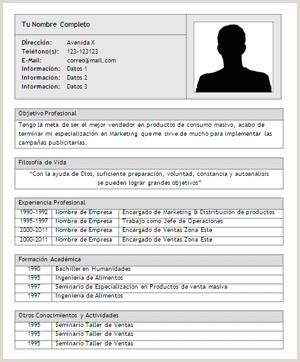 Curriculum Vitae formato Word Para Rellenar Gratis Sencillo Modelos De Curriculum Vitae Vacios Para Rellenar Modelo De