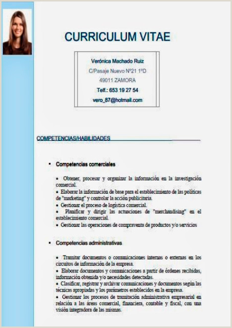 Photo of Curriculum Vitae formato Word Para Rellenar Gratis Sin Experiencia