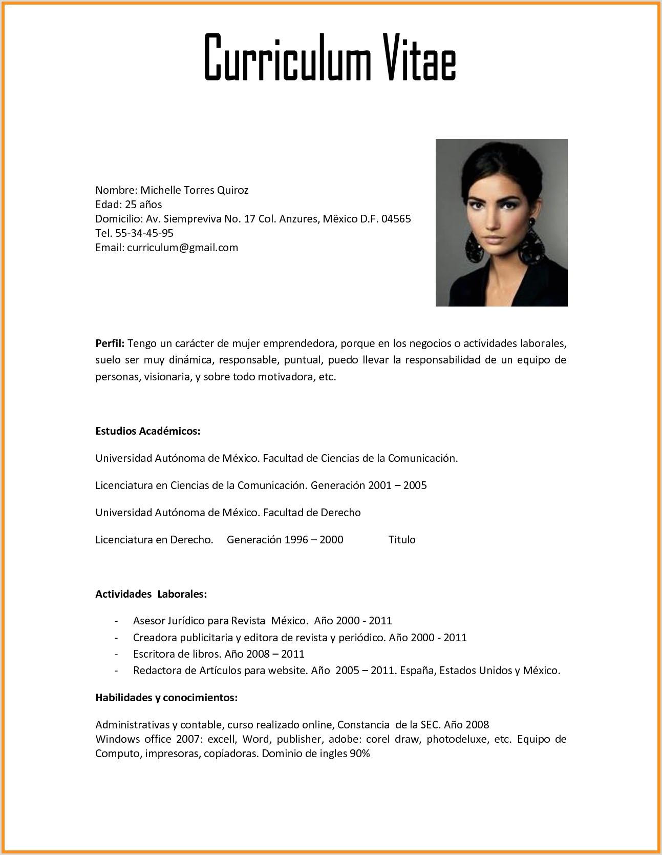 Curriculum Vitae formato Word Para Rellenar Gratis Sin Experiencia Laboral Plantillas Para Cv Simple ¢Ë†Å¡ Curriculum Actor Plantilla
