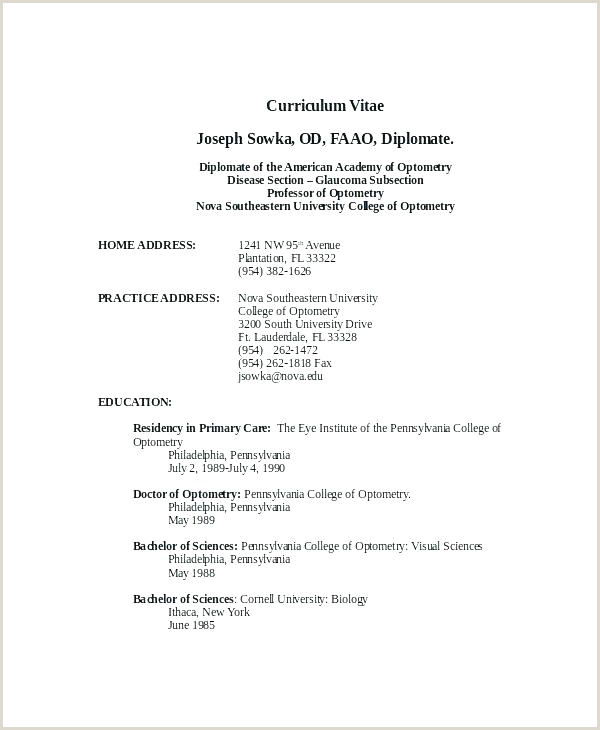 Word Simple Curriculum Vitae Template Lovely Format Resume