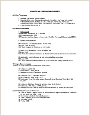 Curriculum Vitae formulario Para Rellenar Curriculum Vitae formato Word Edit Line Fill Out