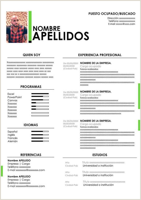 Curriculum Vitae Para Completar Y Descargar Ejemplos De Hoja De Vida Modernos En Word Para Descargar