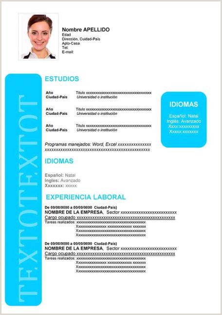 Curriculum Vitae Para Rellenar Administrativo Ejemplos De Hoja De Vida Modernos En Word Para Descargar