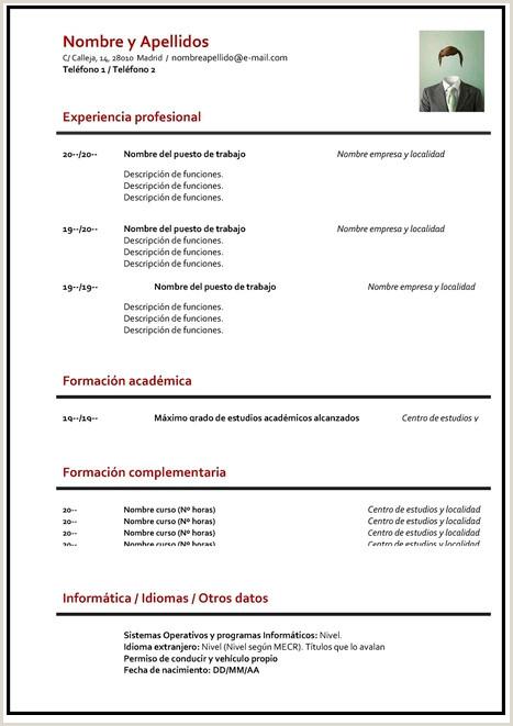 Curriculum Vitae Para Rellenar Administrativo Gua】¿c³mo Hacer Un Curriculum Vitae ➤ Plantillas Para Cv