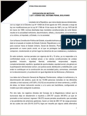 Curriculum Vitae Para Rellenar Bolivia Proyecto De Codigo Del Sistema Penal Bolivia