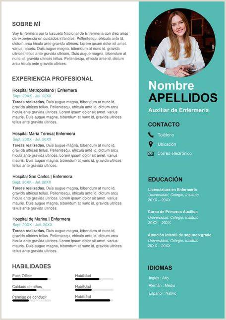 Curriculum Vitae Para Rellenar E Imprimir Gratis Ejemplos De Hoja De Vida Modernos En Word Para Descargar