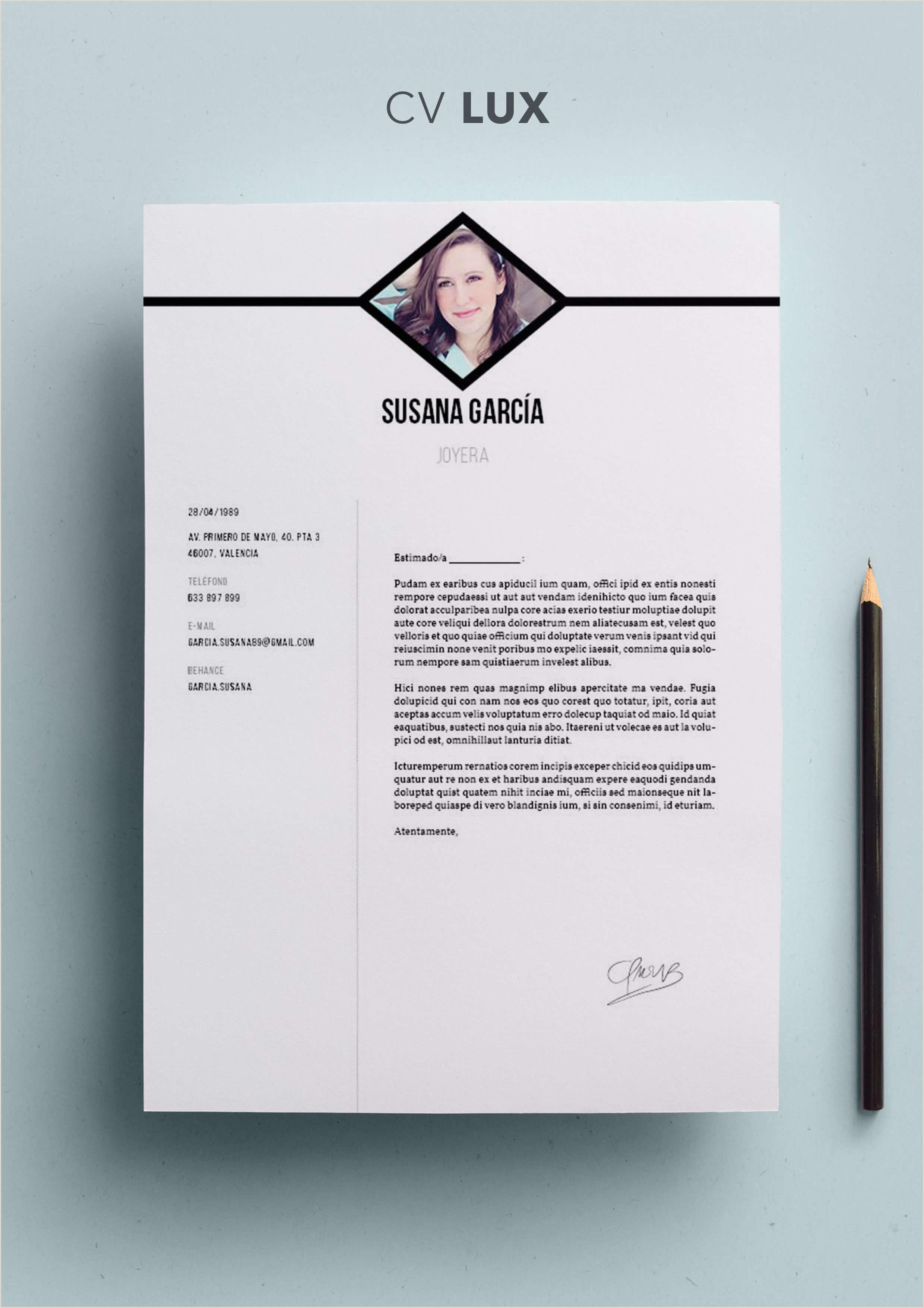 Curriculum Vitae Para Rellenar En Blanco Currculum Vitae Modelo Lux