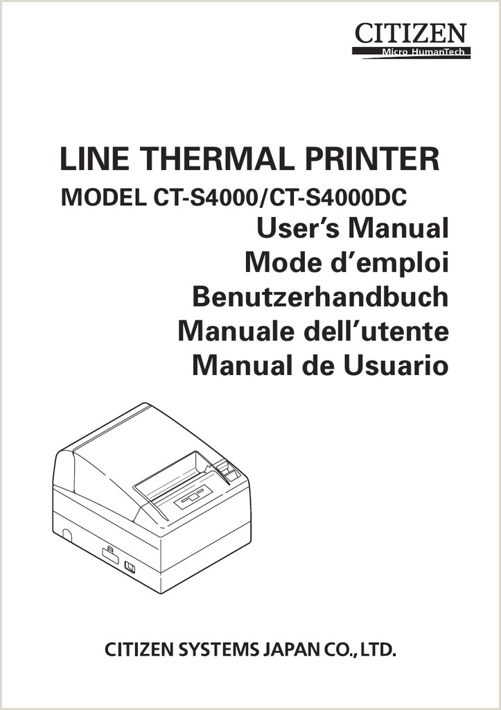 Citizen CT S2000 Printer User Manual