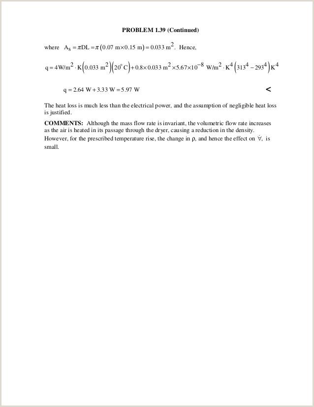 Solucionario Incropera Transferencia de calor Ch01