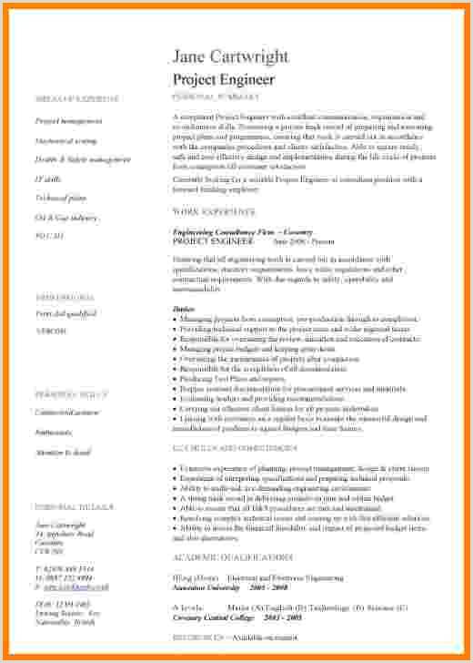 Curriculum Vitae Para Rellenar On Line 9 Curriculum Vitae Examples for Engineers
