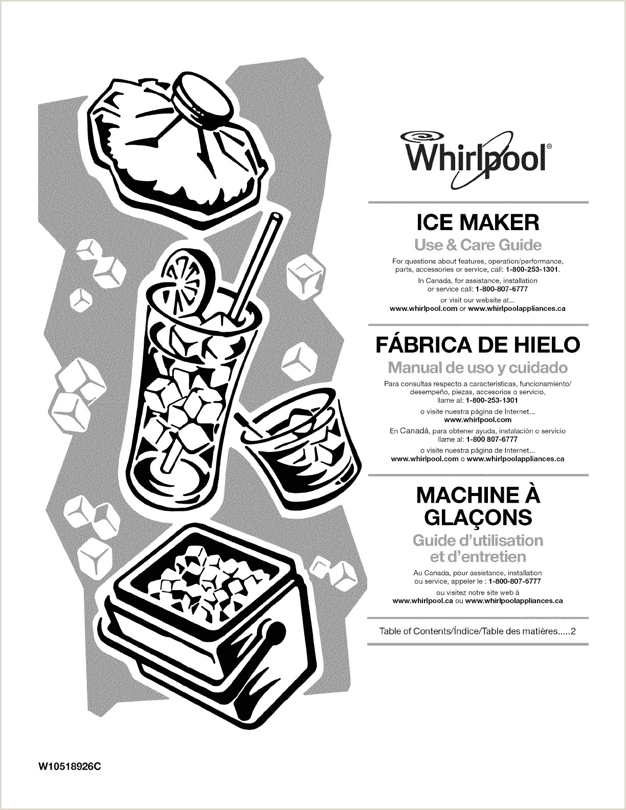 Whirlpool GI15PDXZS0 User Manual ICE MAKER Manuals And