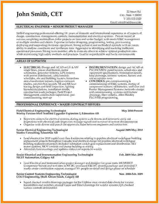9 curriculum vitae examples for engineers