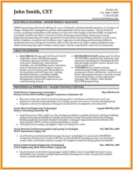 Curriculum Vitae Para Rellenar Simple 9 Curriculum Vitae Examples for Engineers