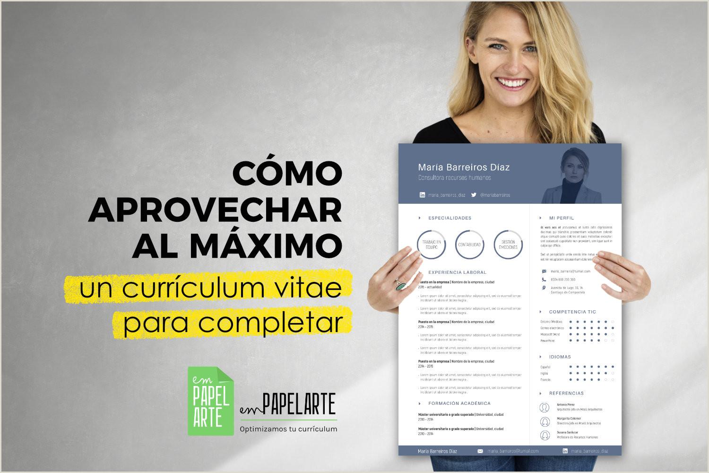 Curriculum Vitae Para Rellenar Sin Experiencia Plantillas Cv