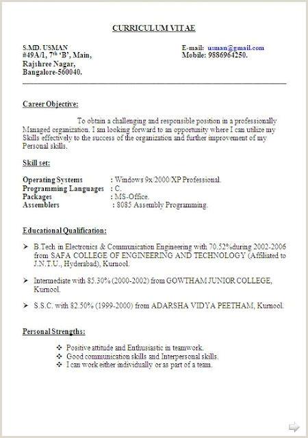 Curriculum Vitae Para Rellenar Word Gratis Best Resume Objective Statement Free Sample
