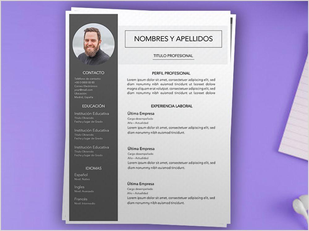 Curriculum Vitae Formato Word Para Rellenar Gratis