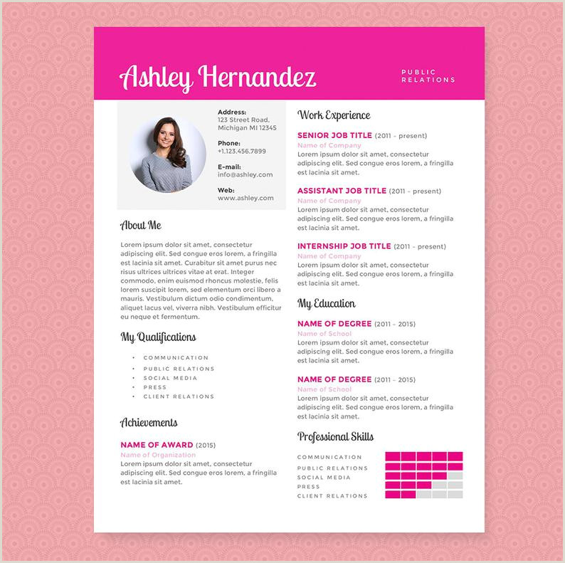 Curriculum Vitae rosa brillante y plantilla de carta de presentaci³n limpiar plantilla paquete dise±o de currculum carta de presentaci³n dise±o