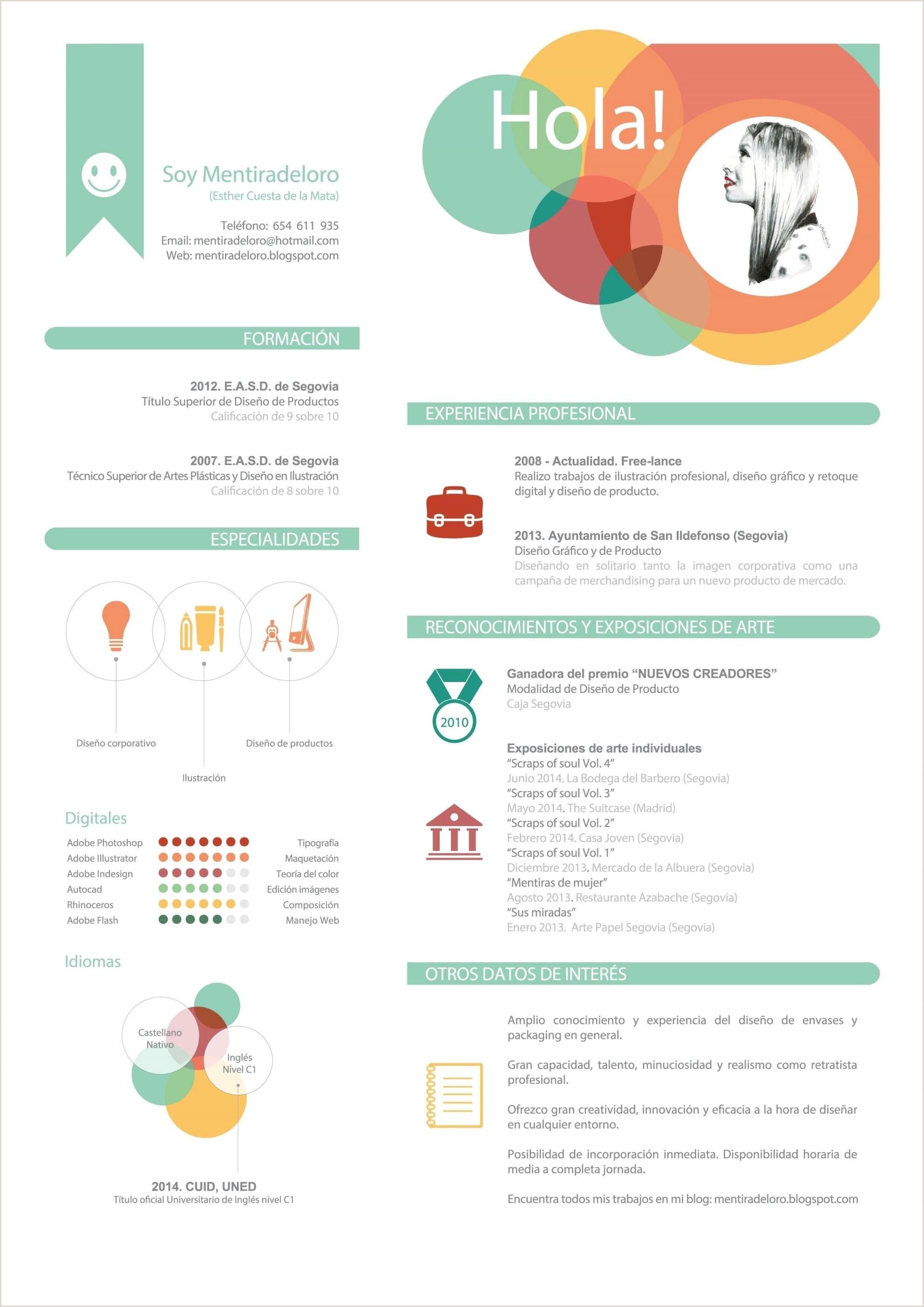 Formulario De Curriculum Vitae Para Llenar