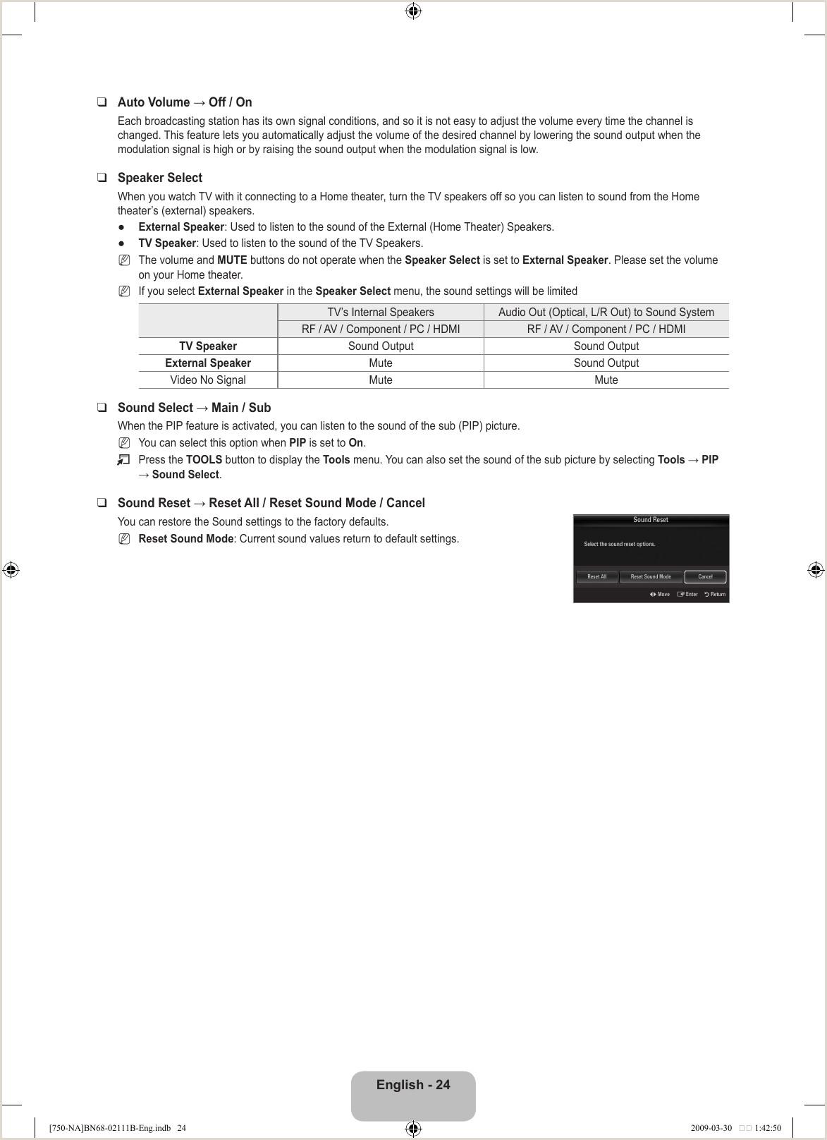 Samsung Ln40B750 Users Manual
