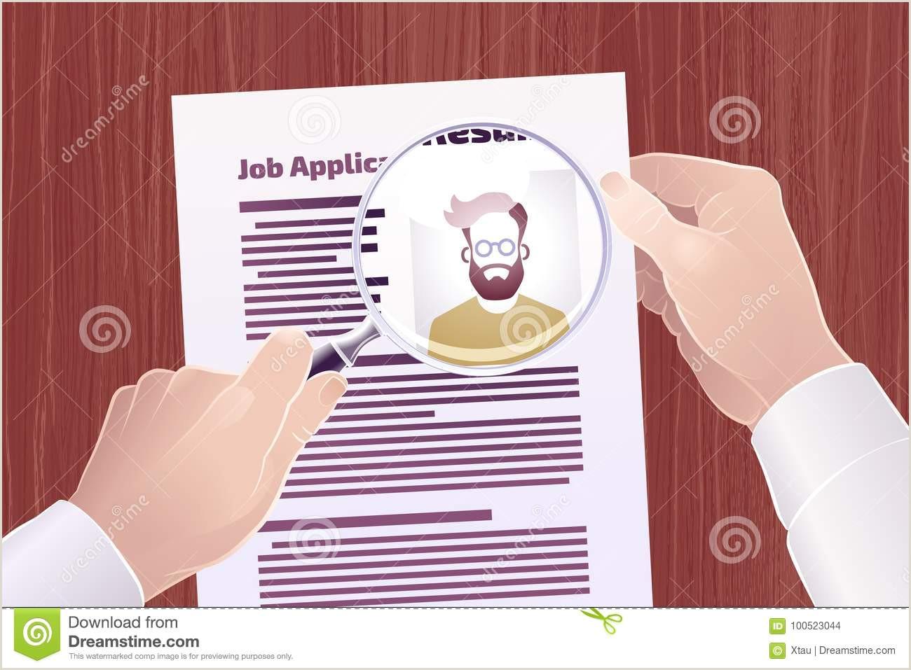 Bºsqueda De Job Application Resume Ilustraci³n del Vector