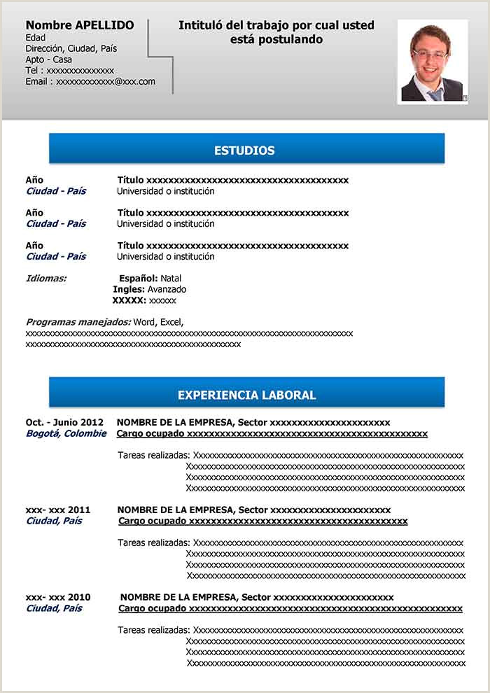 Curriculum Vitae Plantilla Word Para Rellenar Basico Curriculum Vitae Simple Para Pletar E Imprimir Modelo Cv