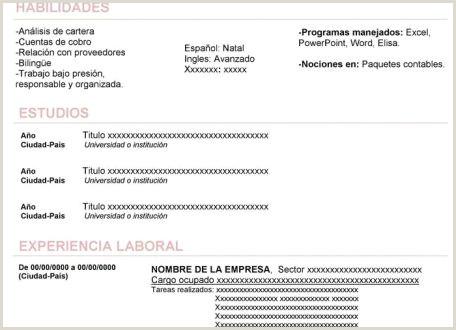 Modelo De Curriculum Vitae Original Modelo de Curriculum Vitae