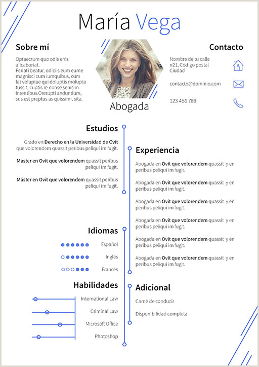 Curriculum Vitae Plantilla Word Para Rellenar Sin Experiencia Currculum Vitae Modelo Hexa
