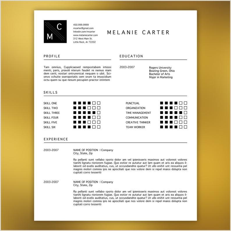 Plantilla de curriculum vitae profesional Editable en MS Word y Adobe Indesign Los iconos negro moderno mnima