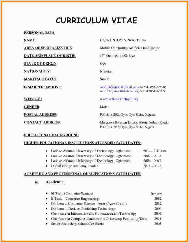 Free Collection 59 Vitae Resume