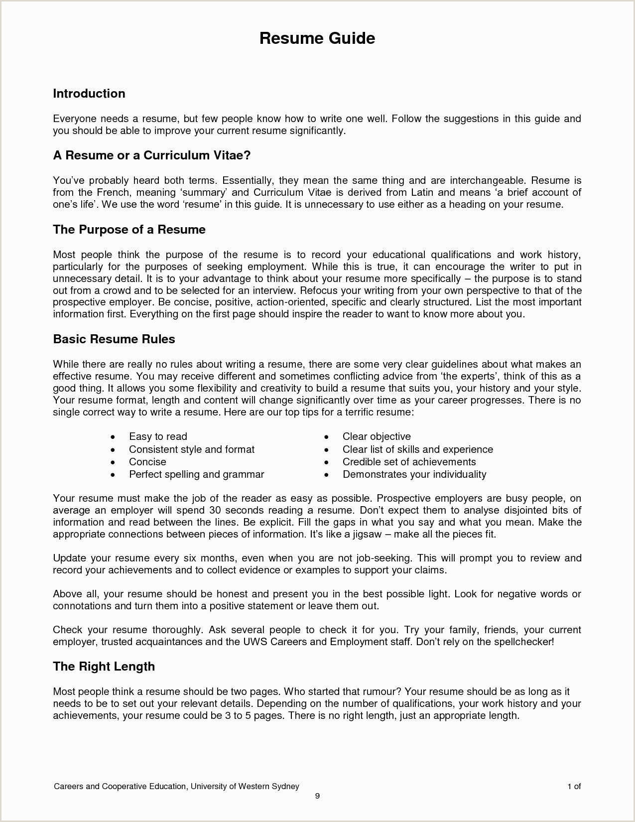Free Collection 59 Vitae Resume