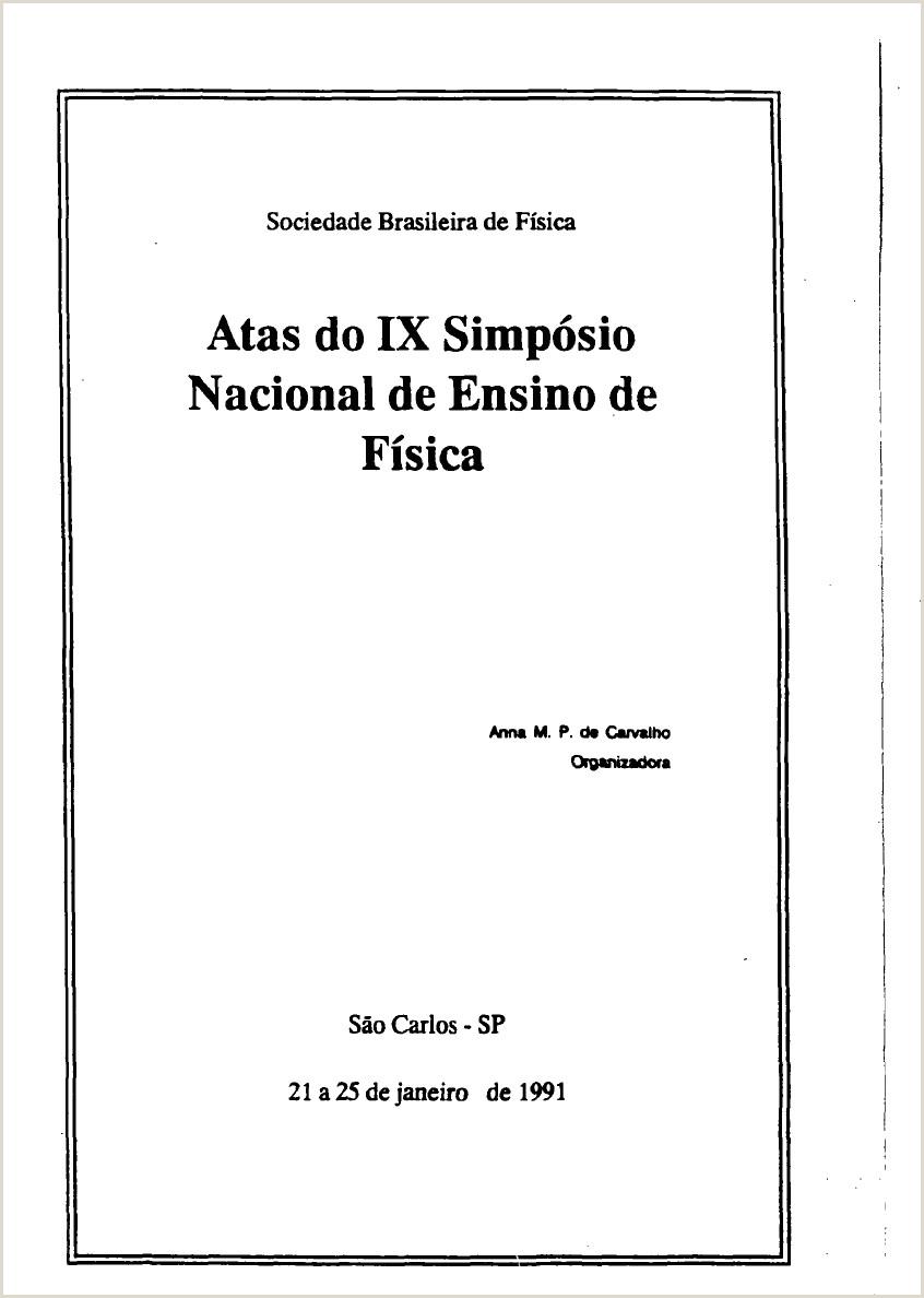 Atas do IX Simpsio Nacional de Ensino de Fsica