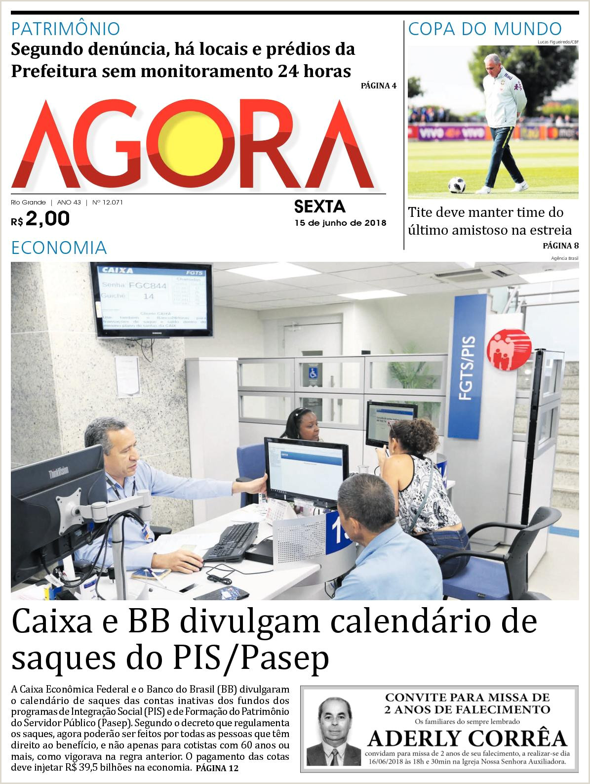 Calaméo Jornal Agora Edi§£o 15 de Junho de 2018