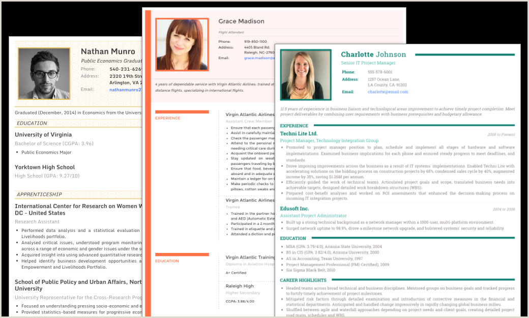 CV Maker Resume templates with photo