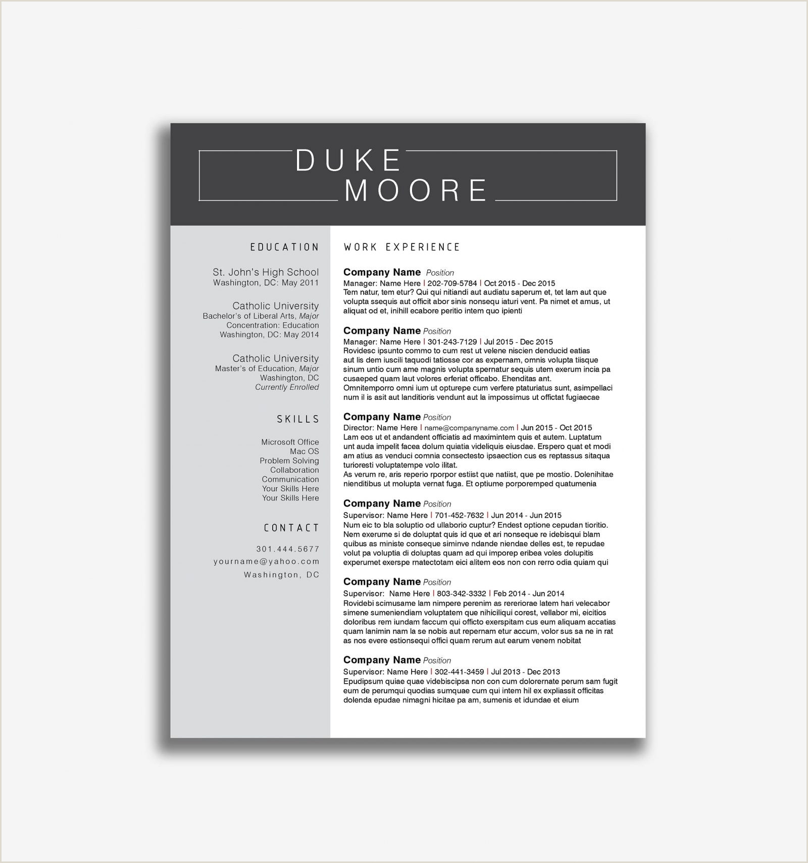 Eudora Pink Resume Template Resumgo Simple Editable