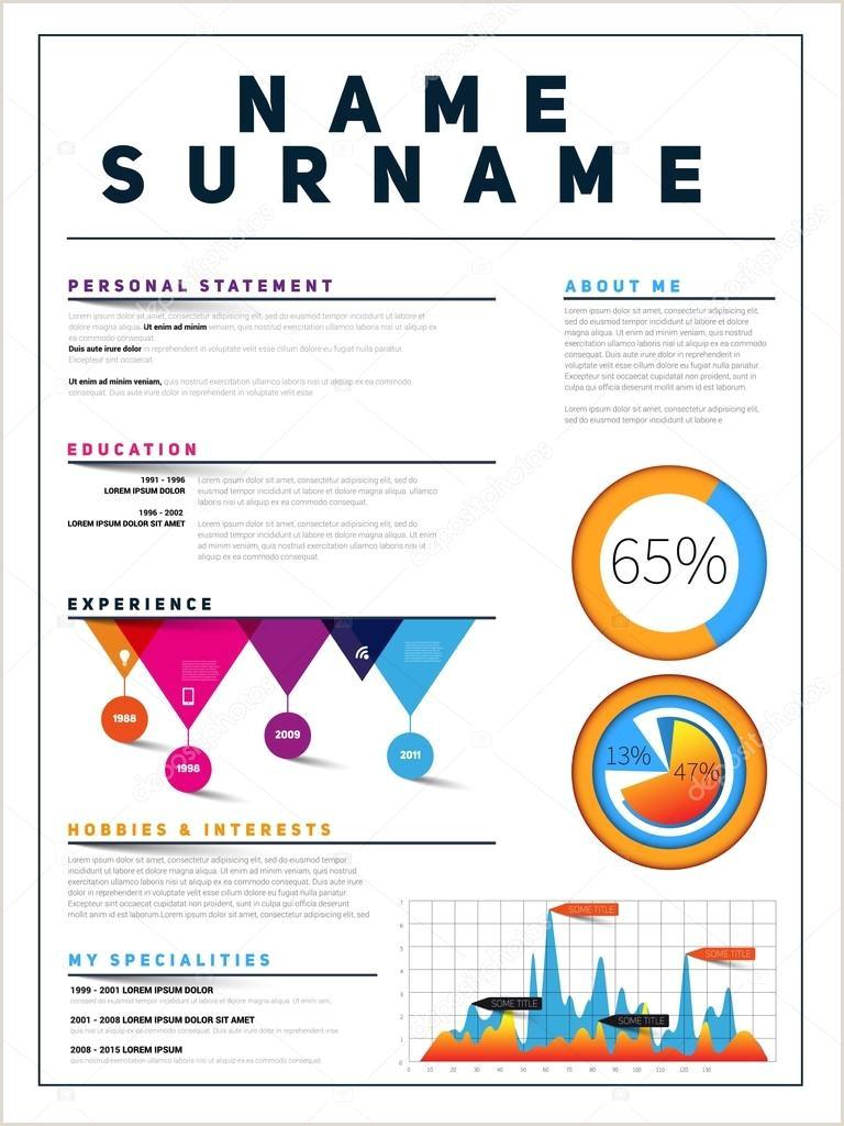 Curriculum Vitae Simples Para Imprimir Currculo Modelo De Cv De Trabalho — Vetores De Stock