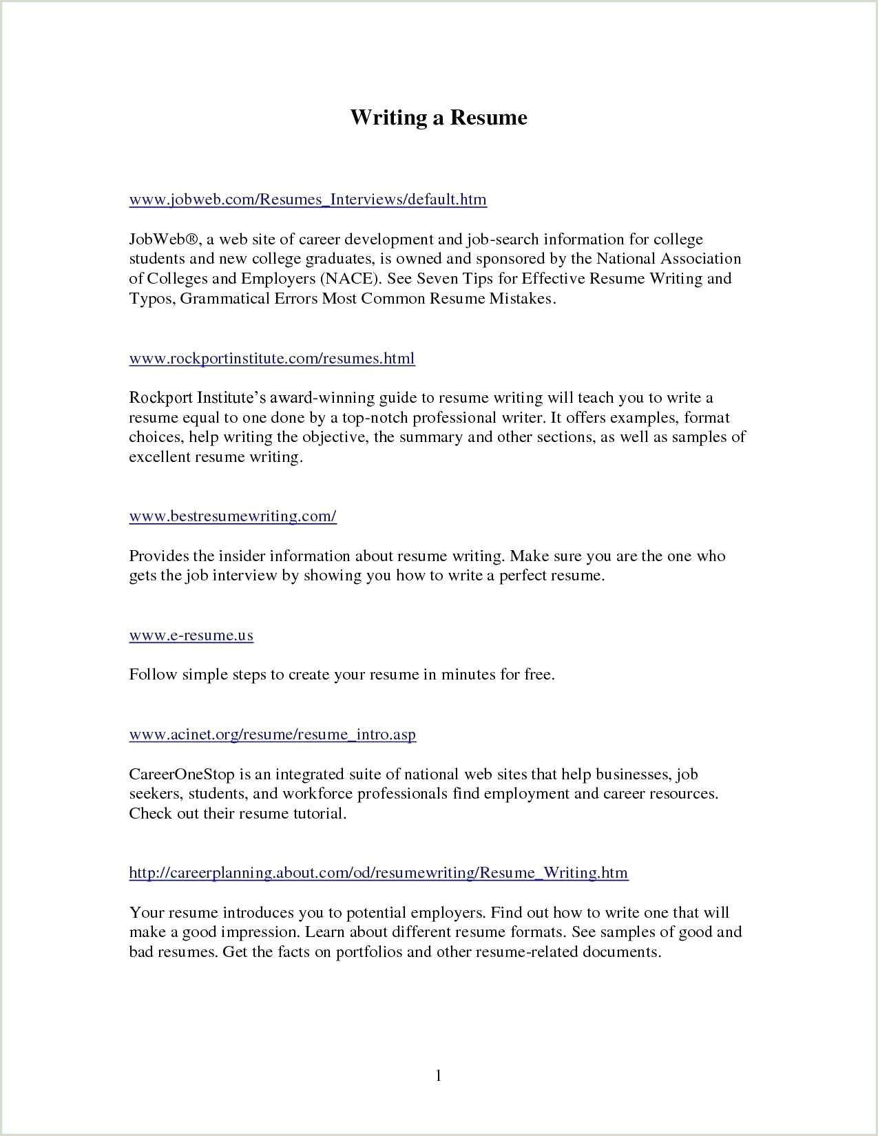 e Page Executive Summary Example Fresh Good Resume Unique