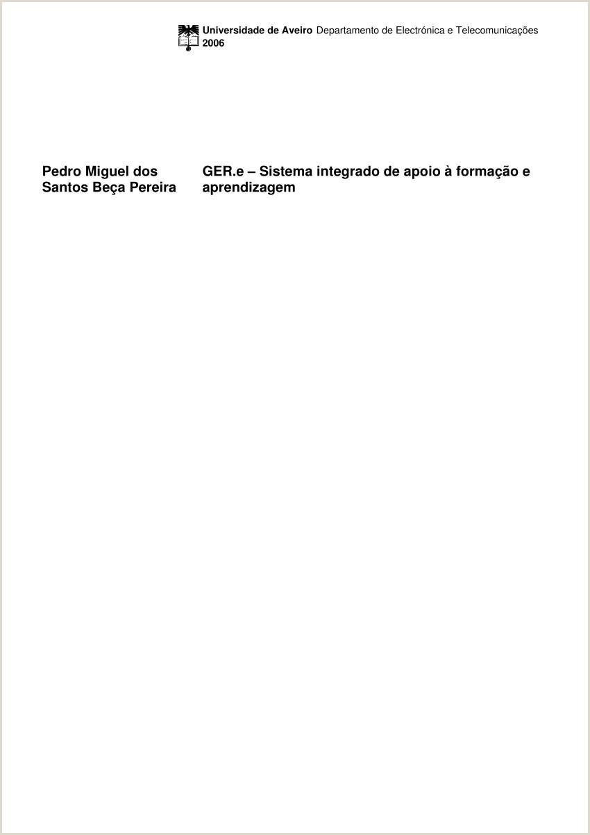 Curriculum Vitae Simples Preenchido Pdf Ger E Sistema Integrado De Apoio  forma§£o E
