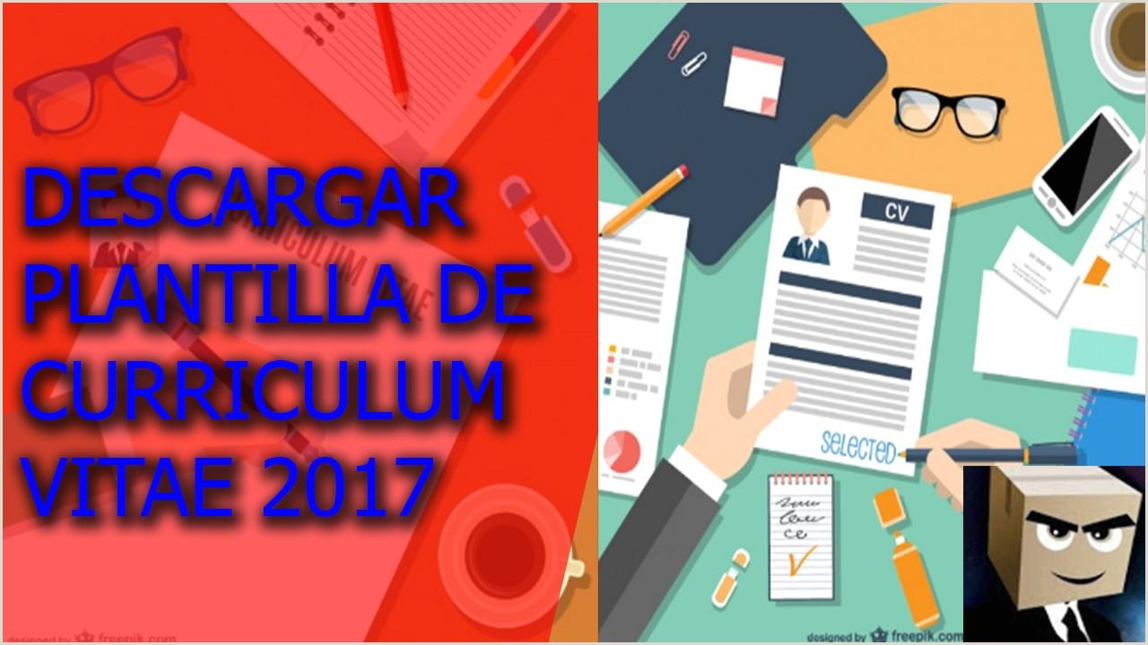 Descargar plantilla modelo de curriculum vitae 2017 gratis En formato word