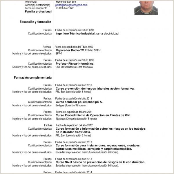Curriculum Vitae Vacio Para Rellenar Cualificaciones Curriculum Vitae Ejemplos