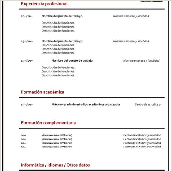 Curriculum Vitae Vacio Para Rellenar Gua】¿c³mo Hacer Un Curriculum Vitae ➤ Plantillas Para Cv