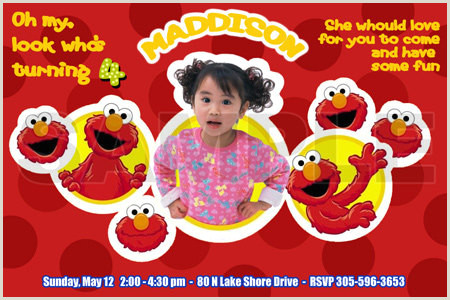 Custom Sesame Street Sign Elmo Invitation Birthday Party Photo Sesame Street Custom Personalized Digital Card Printable