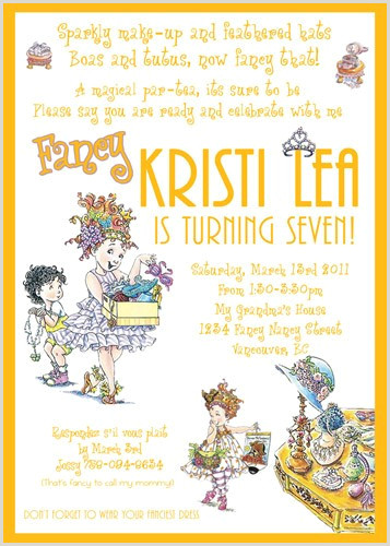 Fancy Nancy Posh Soiree Fairy Party Custom Birthday Invitation
