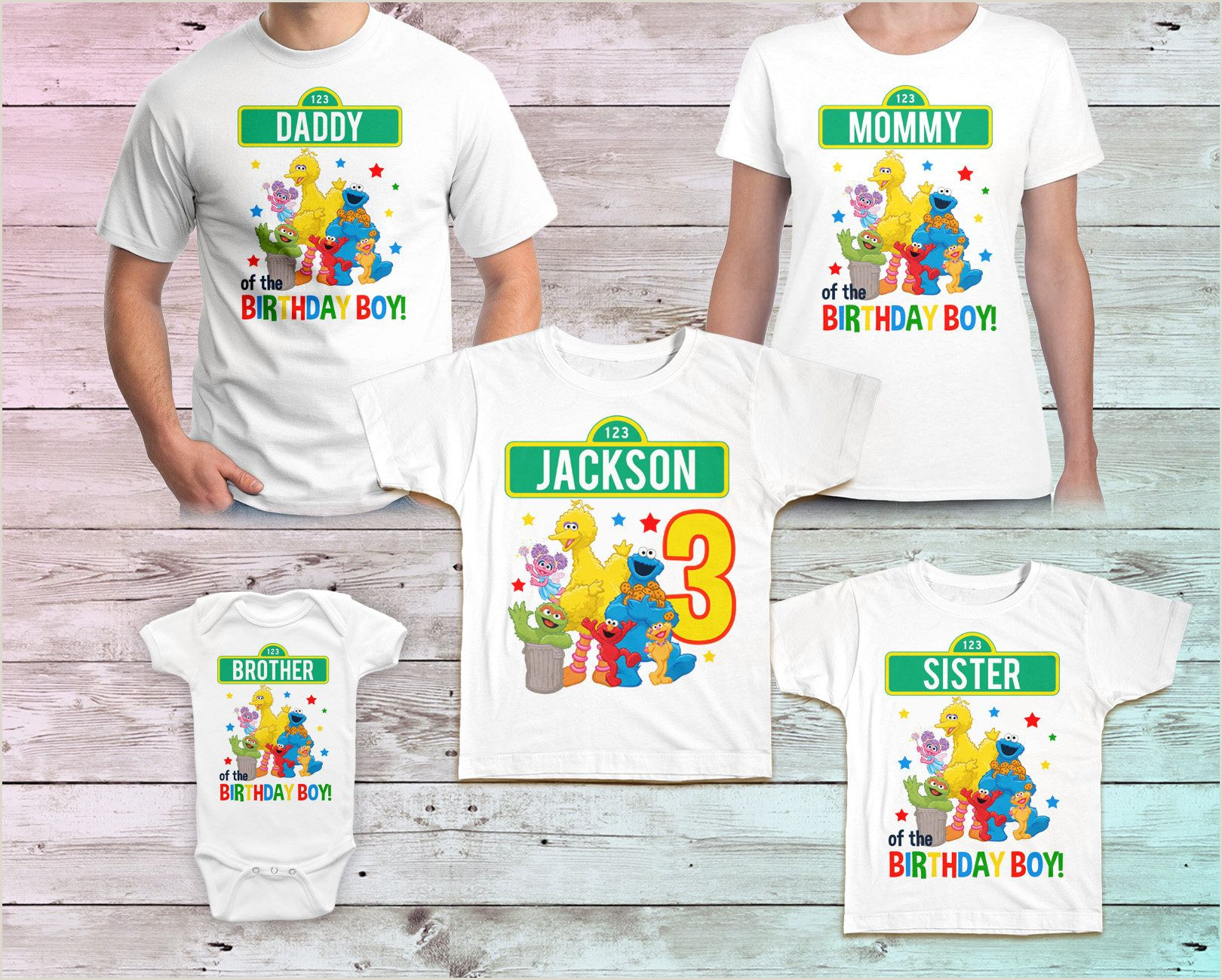Sesame Street Birthday Shirt Sesame Street Family Birthday